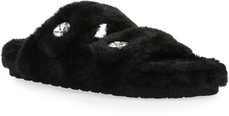 Steve Madden Cuddle Faux Fur Slipper