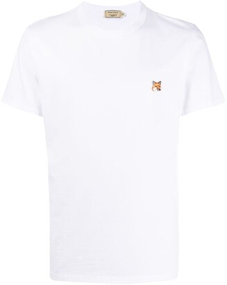 MAISON KITSUNÉ logo-embroidered T-shirt