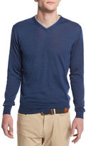 Peter Millar Silk-Blend V-Neck Pullover Sweater