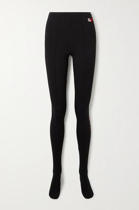 Balenciaga Printed Stretch Cotton-jersey Leggings - Black