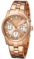 JBW Women's JB-6217-L Alessandra Rose Gold-Tone Chronograph Diamond Watch