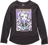Monster High Big Girls' Hi-Low Long-Sleeve Top