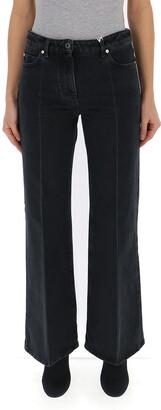 Valentino Logo Print Flare Jeans