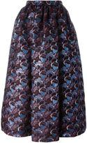 MSGM floral pattern full skirt - women - Polyester - 42