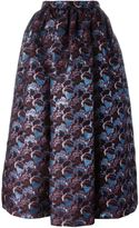 MSGM floral pattern full skirt