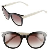 Ted Baker Women's 52Mm Metal Accent Sunglasses - Black