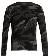 Valentino Camouflage-intarsia cashmere sweater