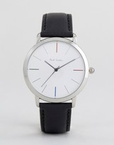 Paul Smith P10051 Ma Leather Watch In Black 41mm