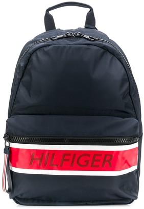Tommy Hilfiger contrast logo stripe backpack