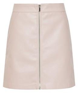 Dorothy Perkins Womens **Only Blush Zip Pu Skirt