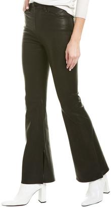 Rag & Bone Bella Black Leather Flare Leg