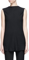 Victoria Beckham Open back sleeveless martingale top