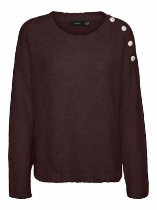 Vero Moda Women's VMABYJEWEL LS O-Neck Blouse GA Sweater