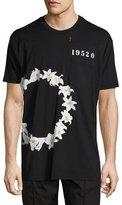 Givenchy Columbian-Fit Lily-Print T-Shirt, Black