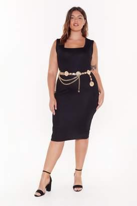 Nasty Gal Womens Fit Right in Plus Midi Dress - black - 20