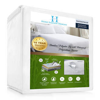 Asstd National Brand Home Fashion Designs Rayon from Bamboo Hypoallergenic Waterproof Mattress Protector