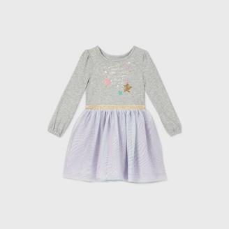 Cat & Jack Toddler Girls' Sparkle Star Long Sleeve Dress - Cat & JackTM