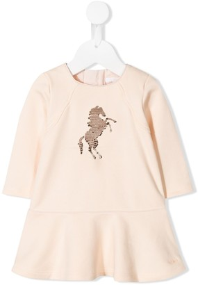Chloé Kids sequin horse dress