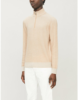 Brunello Cucinelli High-neck zipped-front cashmere jumper