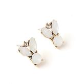 John Lewis Heavy Collared Stone Drop Earrings, White