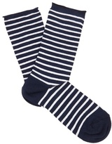 Falke Marine striped cotton-blend socks