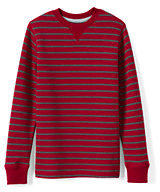 Classic Little Boys Stripe Waffle Crew-Golden Glow/Navy Stripe