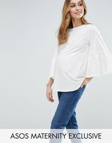 Asos Exagerated Sleeve Top