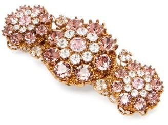 Dolce & Gabbana Floral Crystal Hair Clip - Womens - Crystal