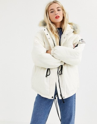 Tommy Jeans expedition coat with drawstring waist