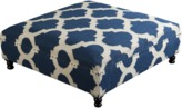 The Well Appointed House Surya Navy and Ivory Ottoman