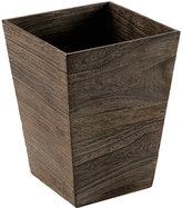 Square Feathergrain Wood Wastebasket