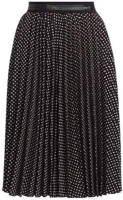 Coach Micro Dot Pleated Skirt