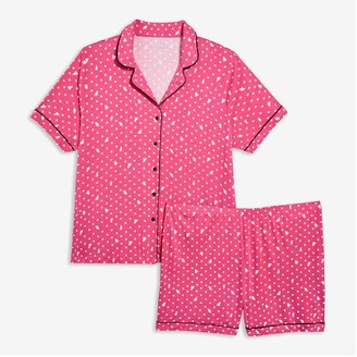 Joe Fresh Women+ 2 Piece Sleep Set, Pink (Size 3X)
