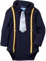 Andy & Evan Navy Bodysuit with Sneaker/Glasses Tie (Baby Boys)