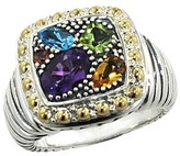 Effy Jewelry Effy 925 Sterling Silver & 18K Gold Accent Multi Gemstone Ring, 1.54 TCW