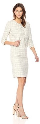 Tahari by Arthur S. Levine Women's Boucle Sleeveless Sheath Dress