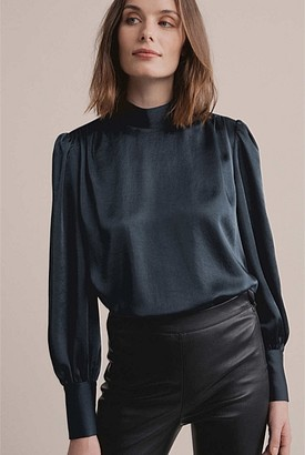 Witchery Gathered High Neck Blouse