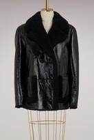 Yves Salomon Merinos and lamb leather jacket