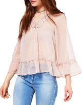 Miss Selfridge Crocheted Sheer Blouse