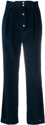 Etro High-Waist Button Trousers