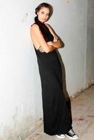 Pencey Cotton Slub Safety Pin Tank Dress in Black