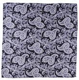 Black Nera Paisley Silk Pocket Square