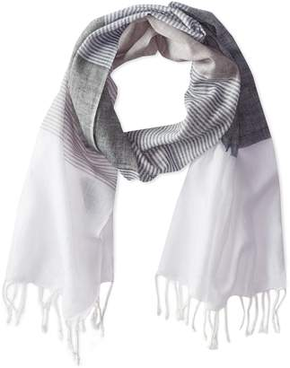 Jules Smith Designs Women's Lightweight Chatham Stripe Scarf with Fringe