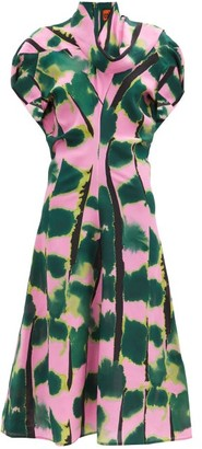 colville Tiger Tail Print Silk-crepe Dress - Green