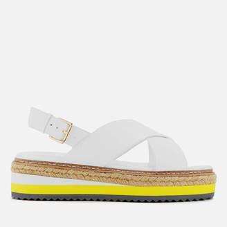 Dune Women's Karli Leather Flatform Sandals - White