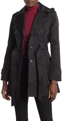 Via Spiga Double Breasted Water Repellent Trench Coat