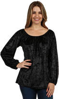 24/7 Comfort Apparel Taormina Velvet Tunic Top