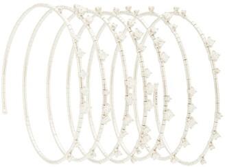 Mattia Cielo 18kt white gold Rugiada diamond multi-wrap coil bangle
