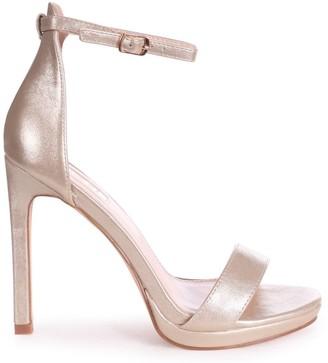 Barely There Linzi GABRIELLA - Gold Metallic Stiletto Heel With Slight Platform
