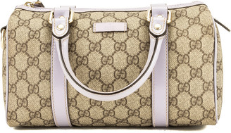 Gucci Purple Gg Canvas Boston Bag